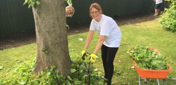 Lloyds Bank volunteers at the Hospice