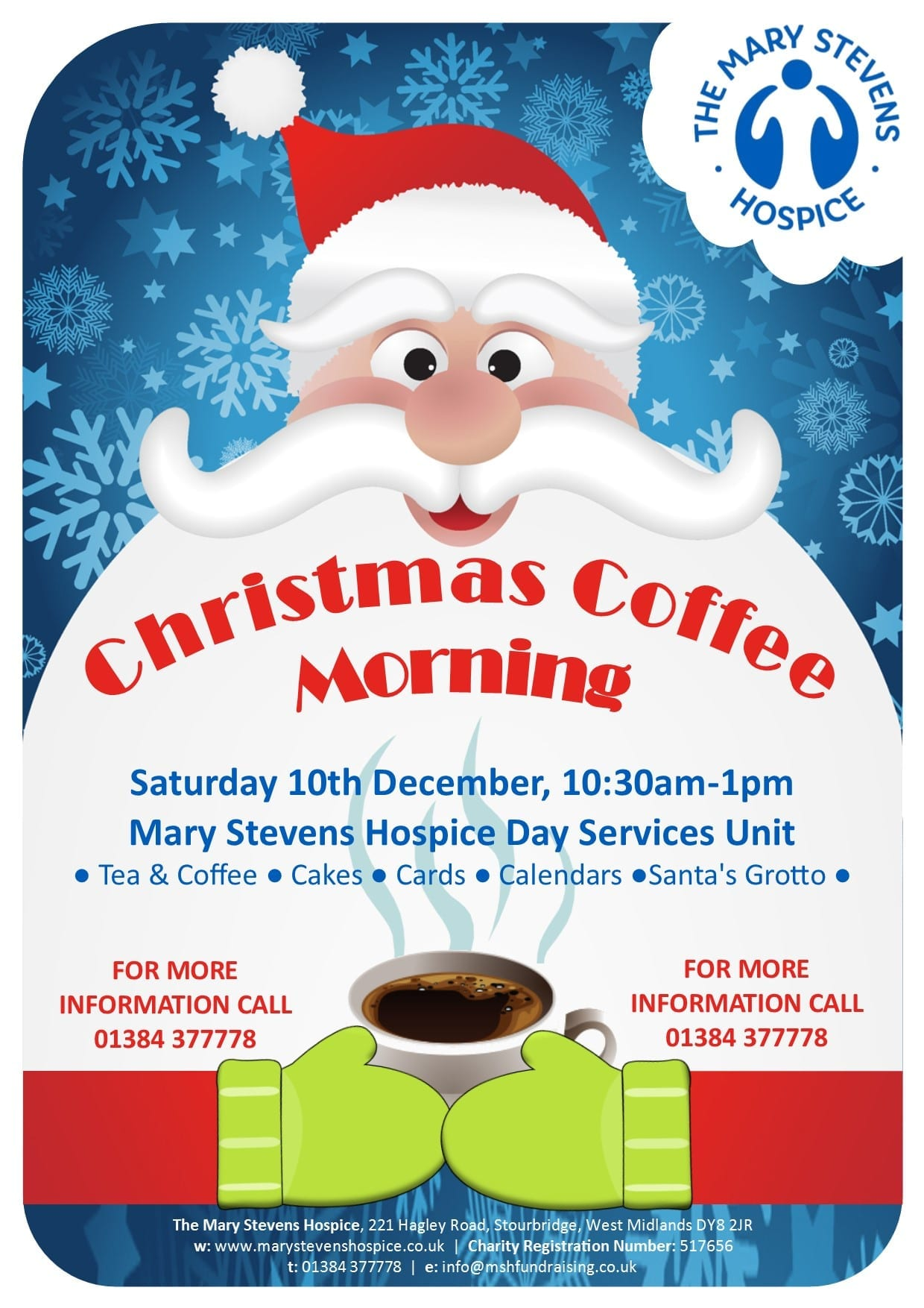Christmas Coffee Morning At The Mary Stevens Hospice