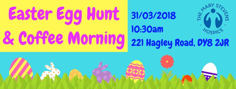 Banner for the Easter Egg Hunt