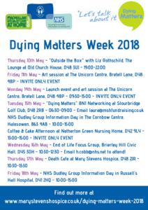 Dying Matters 2018 calendar