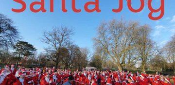 Santa Jog Here Image